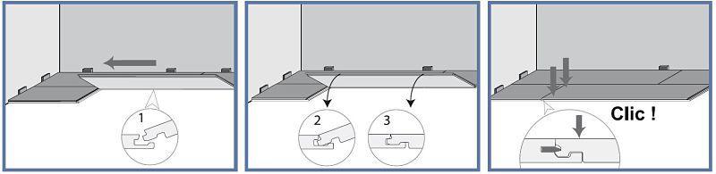 ENSAMBLE CLIk Piso laminado PVC Acento Suministros