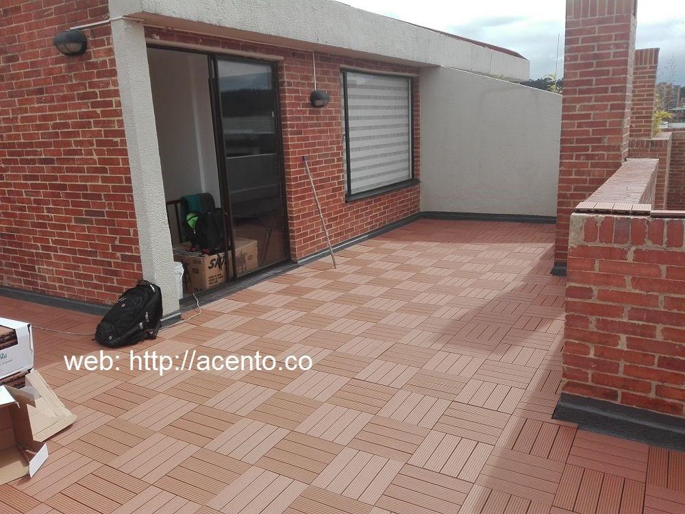 Deck piso tableta sintetica terminado terraza calle 142 Bogotá Acento Suministros