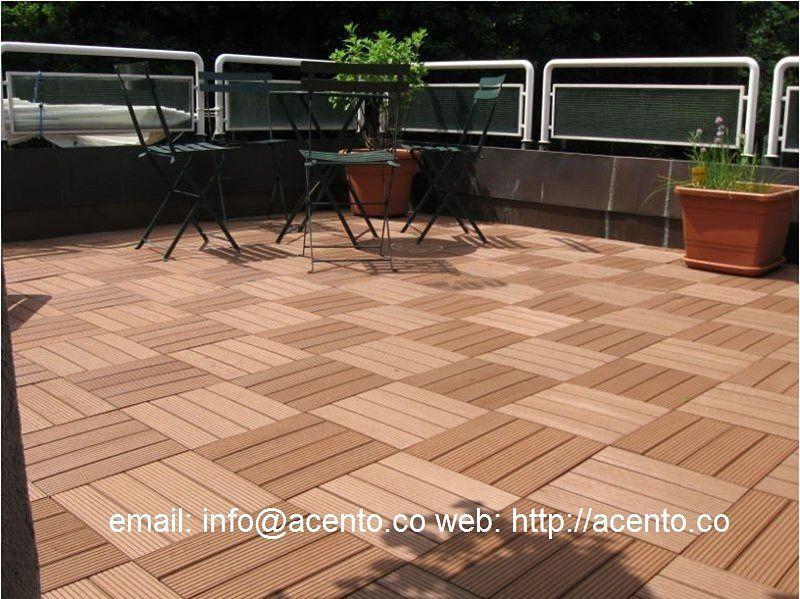 Piso Deck tableta wood plastic composite madera sintética acento suministros