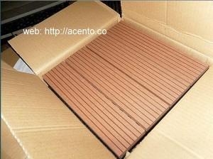 PISO DECK TABLETA 30x30 WPC SINTÉTICO en caja