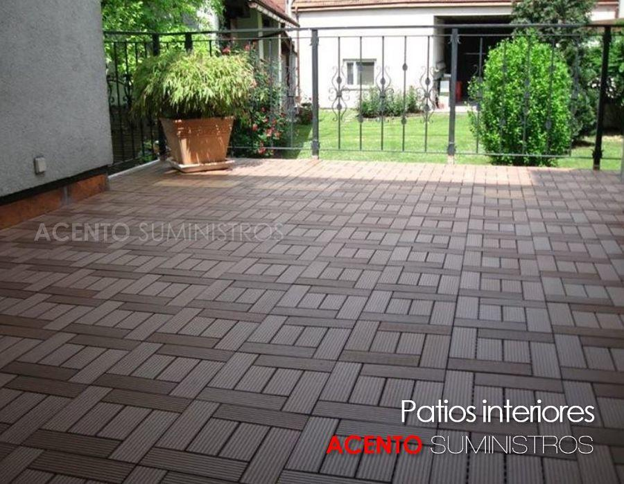 Piso deck tableta madera sintética wood plastic composite para áreas de patios