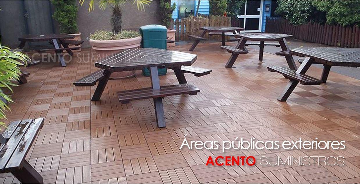 Piso deck tableta 30x30 áreas públicas exteriores