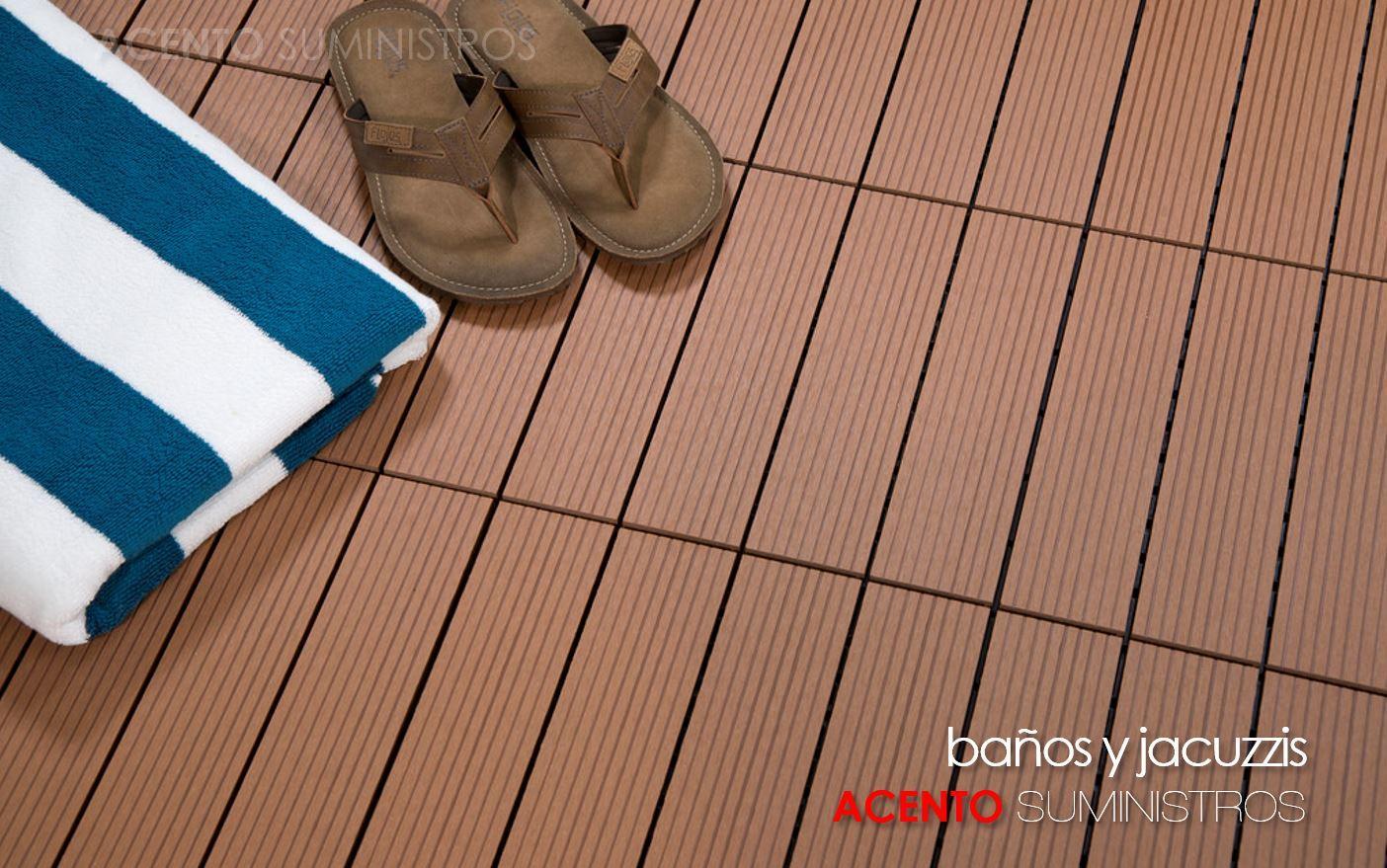 Piso deck tableta madera wpc sintética baños y jacuzzis exteriores
