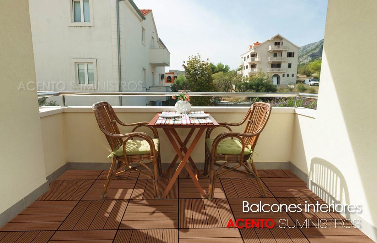 Piso deck wood plastic composite tableta balcones exteriores