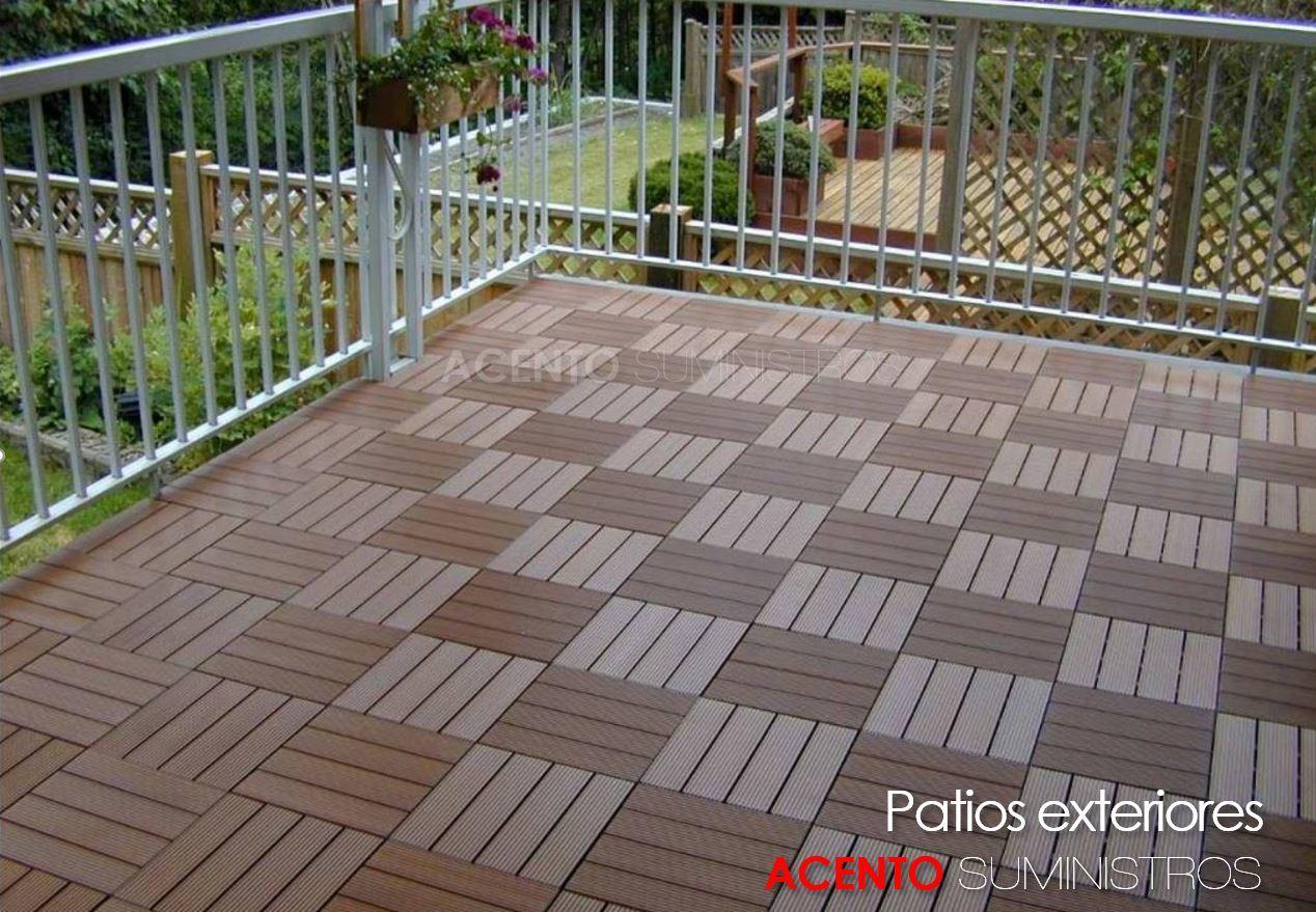 Piso deck tableta madera compuesta patio exterior