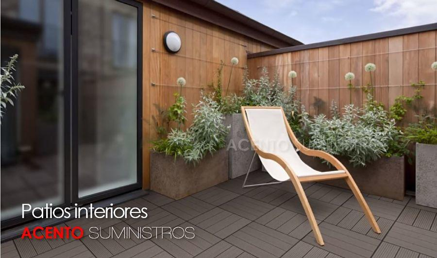 Piso deck tableta wpc madera sintética patio interior de descanso