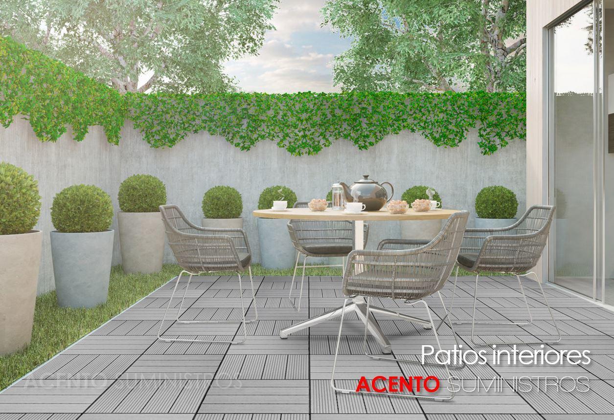 Piso deck tableta madera sintética wpc patio interior