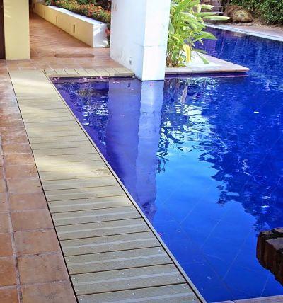 Piso deck wpc acento resistencia a la humedad