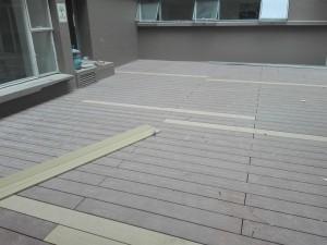 Montaje piso deck listón en WPC Acento Suministros SAS Bogotá