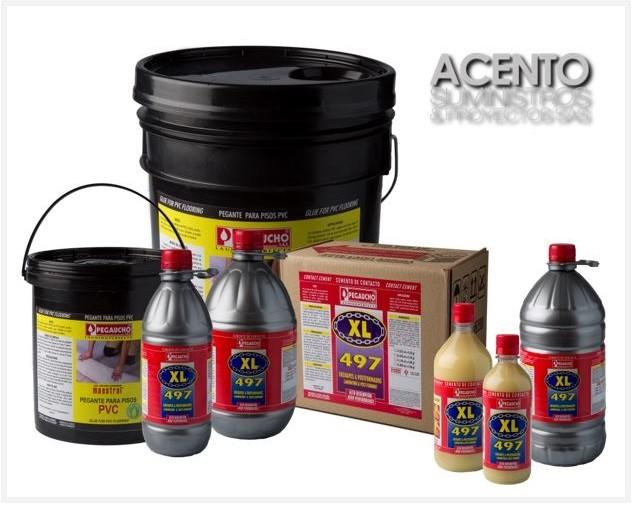 Adhesivos y másticos especializados para piso