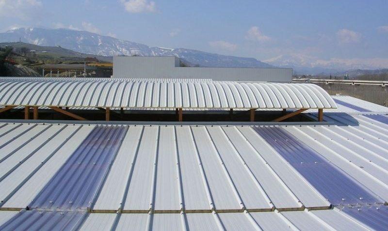 Cubierta PanelMET Industrial Traslapo eficiente Acento Suministros