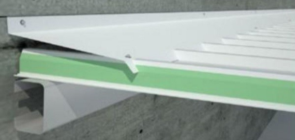 Remate superior contra muro PanelMET Detalle Acento Suministros