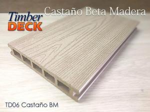 PISO SINTÉTICO TIMBERDECK 06 CASTAÑO BETA MADERA ACENTO SUMINISTROS