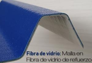 Cubierta con refuerzo en fibra de vidrio