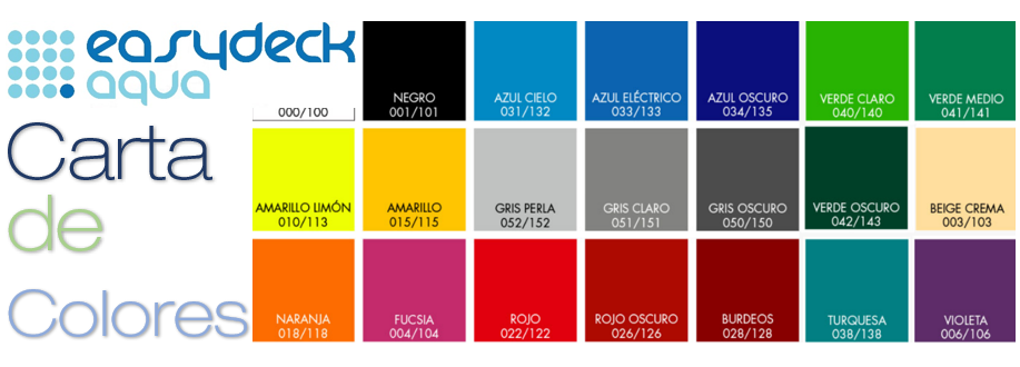 Piso Easydeck Aqua colores Acento Suministros