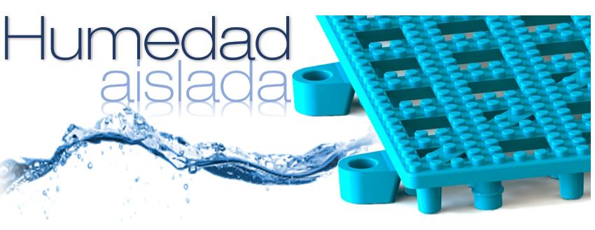 Piso Easydeck Aqua humedad aislada Acento Suministros